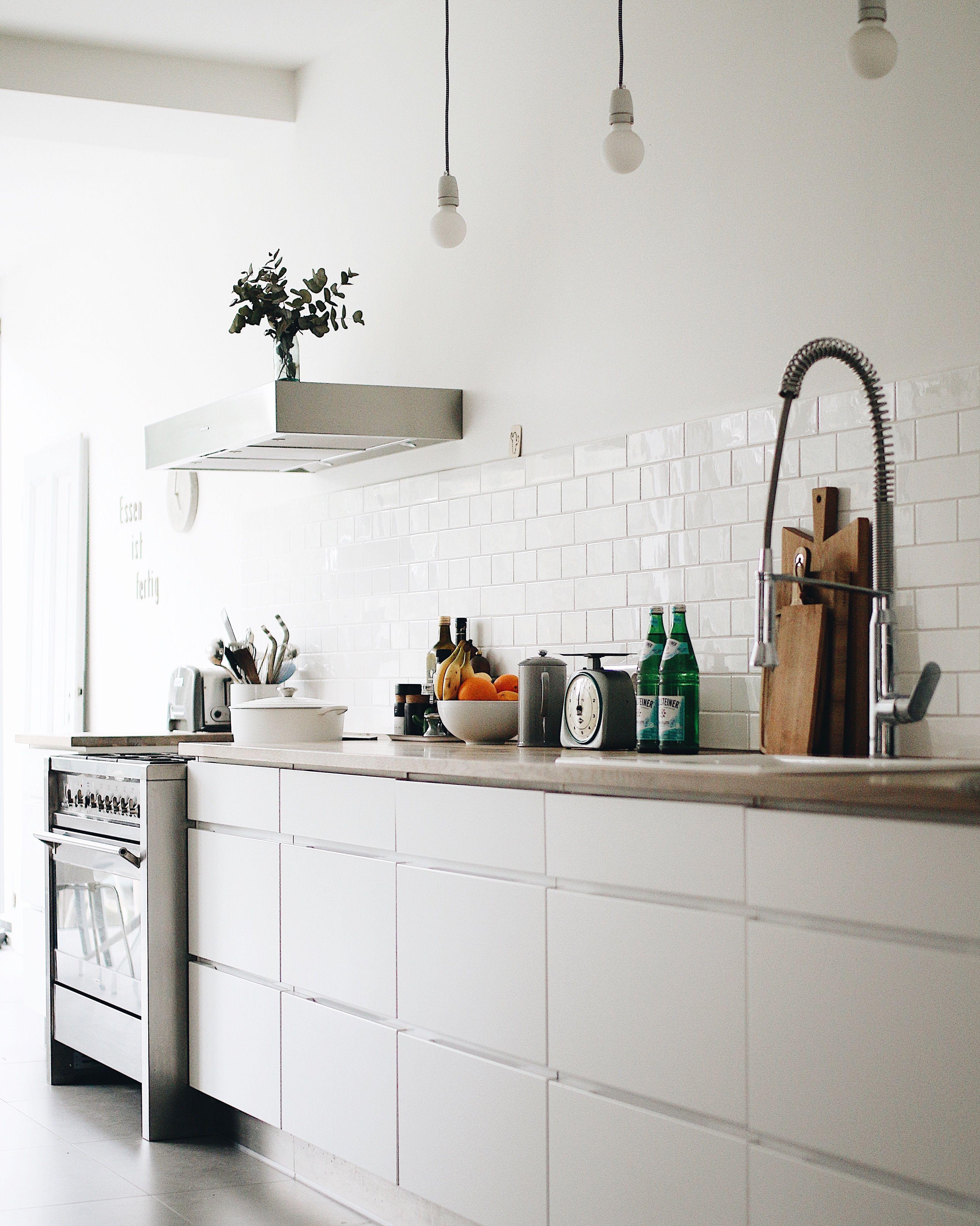 Küche Weiß Ohne Hängeschränke | Offene Küche Ohne Hängeschränke