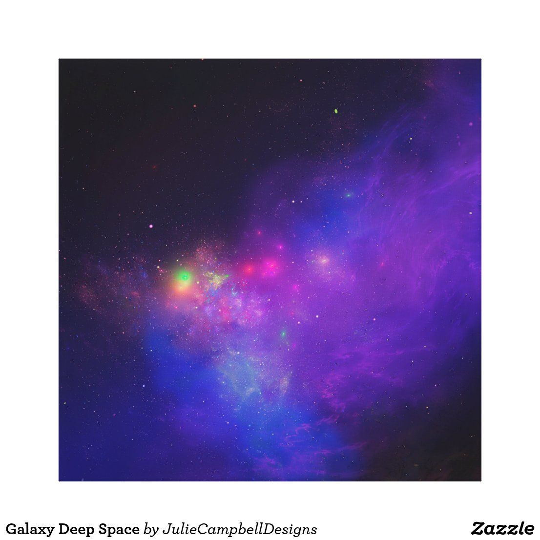 Acrylic Galaxy Painting On Canvas Panel Night Time Sky Cosmic View Pine Trees Silhoutte On Galactic Background By Di Galaxy Painting Painting Canvas Painting