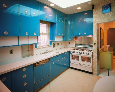 Superbe The Kitchen In Louis Armstrongu0027s Queens, NY Home. Look At That Glossy Blue  On