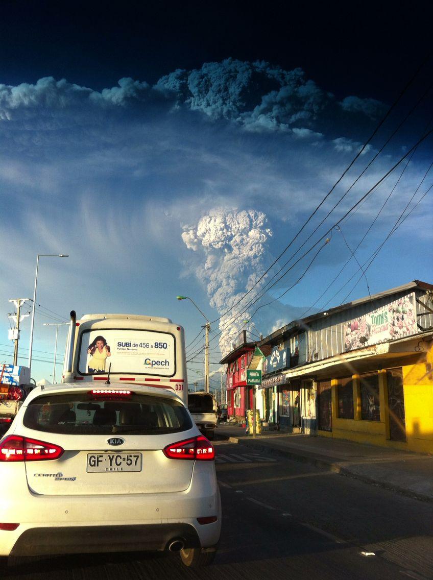 Calbuco en erupción