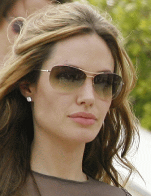 Angelina Jolie x Gold Aviator Sunglasses by Oliver Peoples ♥ 832865a97c
