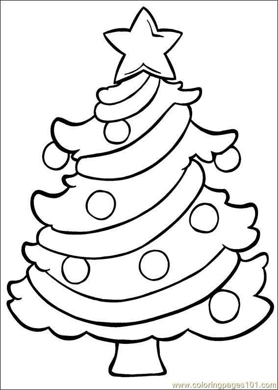 free printable coloring image Christmas 174   Christmas tree ...
