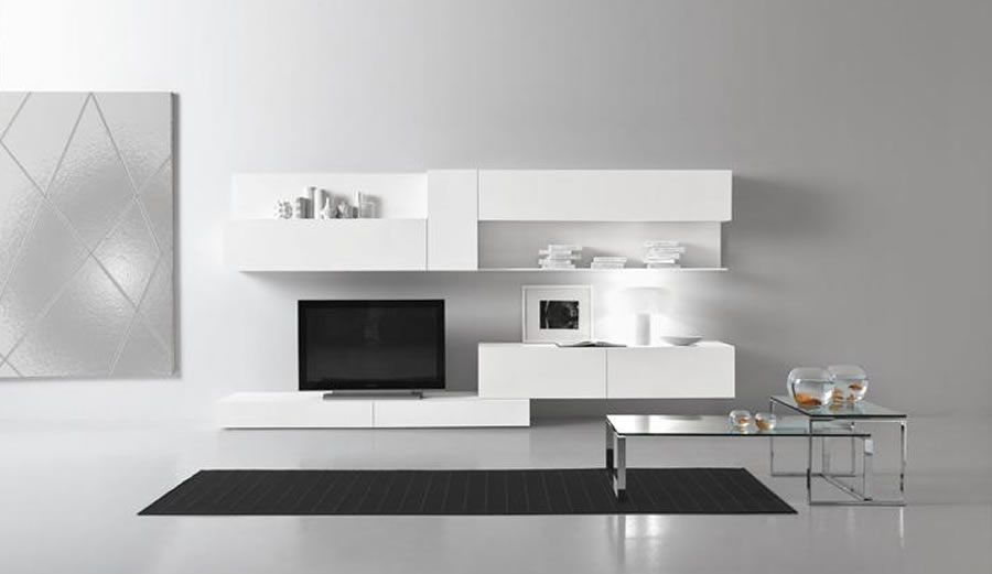 Contemporary modular wall unit design for living room for Contemporary tv unit designs for living room
