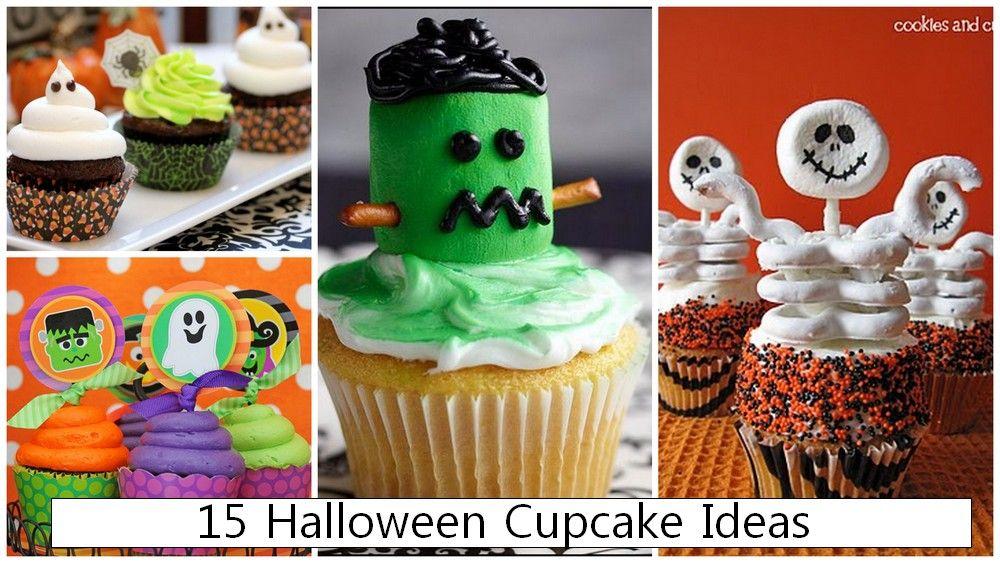 halloween birthday party cupcakes