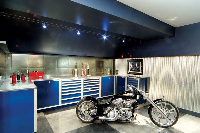 Garage Photos | Aluminum Storage Cabinets | Moduline Cabinets - Garage Photos Aluminum Storage Cabinets Moduline Cabinets