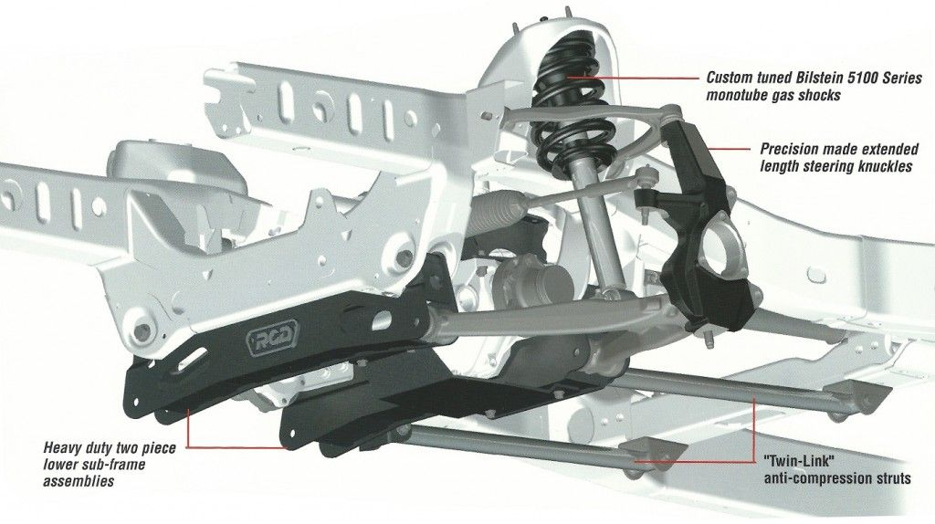 RCD 46 inch lift kit for Toyota Tundra 20072014 Diagram