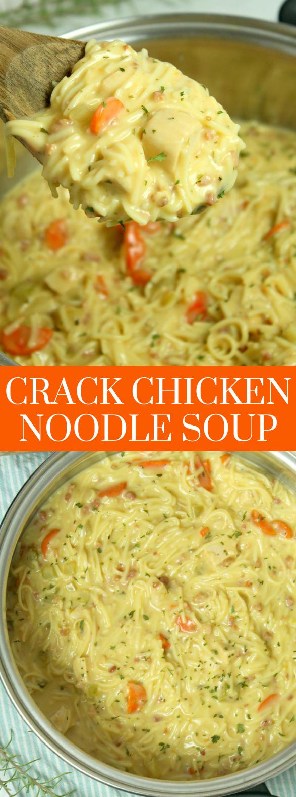Crack Chicken Noodle Soup #dinner #recipes images