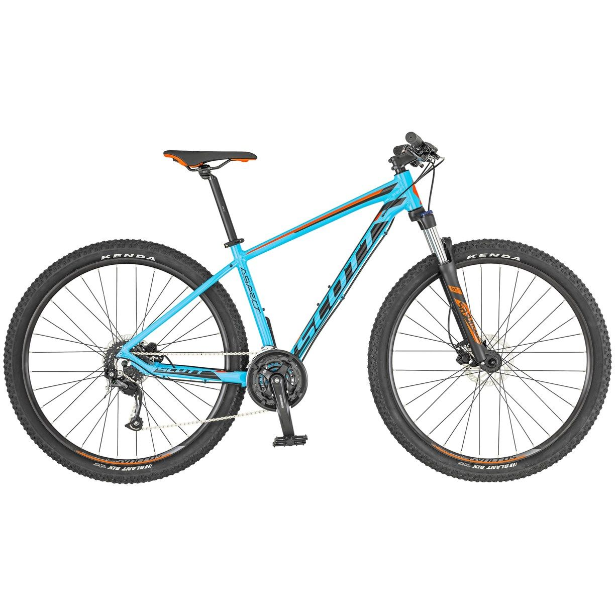 Scott Aspect 950 2019 Hardtail Mountain Bike Light Blue Red With