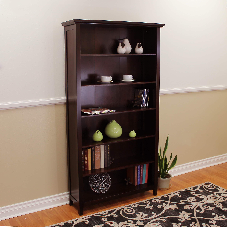 Donnieann Lindendale Espresso Wood 72 Inch High Bookcase (Espresso, Dark Brown,