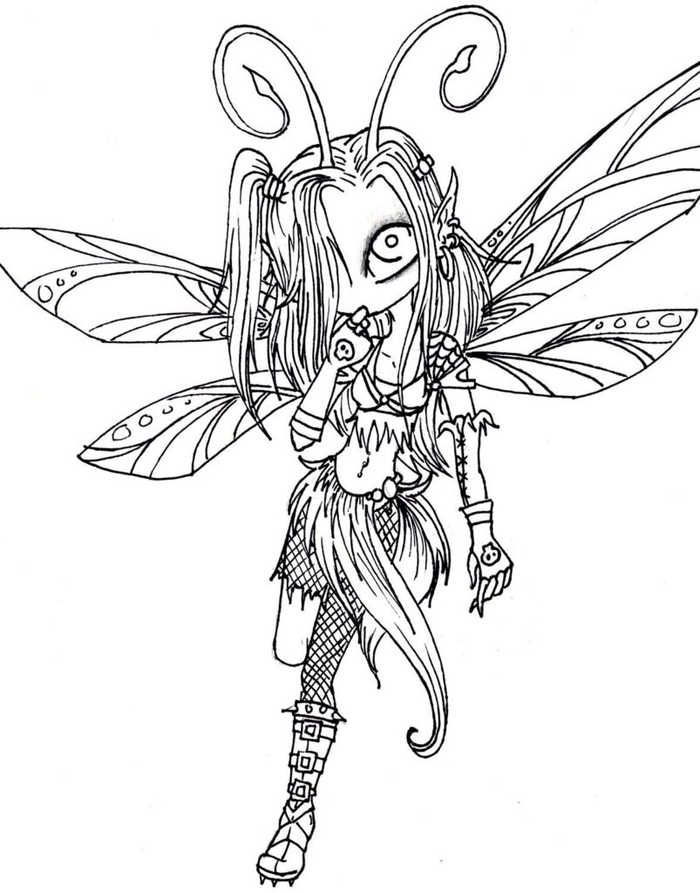 Check Out These Fairy Coloring Pages Collection (With ...