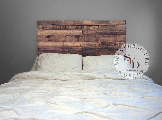 Made From Reclaimed Pallet Wood Sustainable It Works Beautifully In A Modern Environment Cleaned Sanded To Be Smooth To The To Tete De Lit Bois Meubles En Bois De Palettes Et