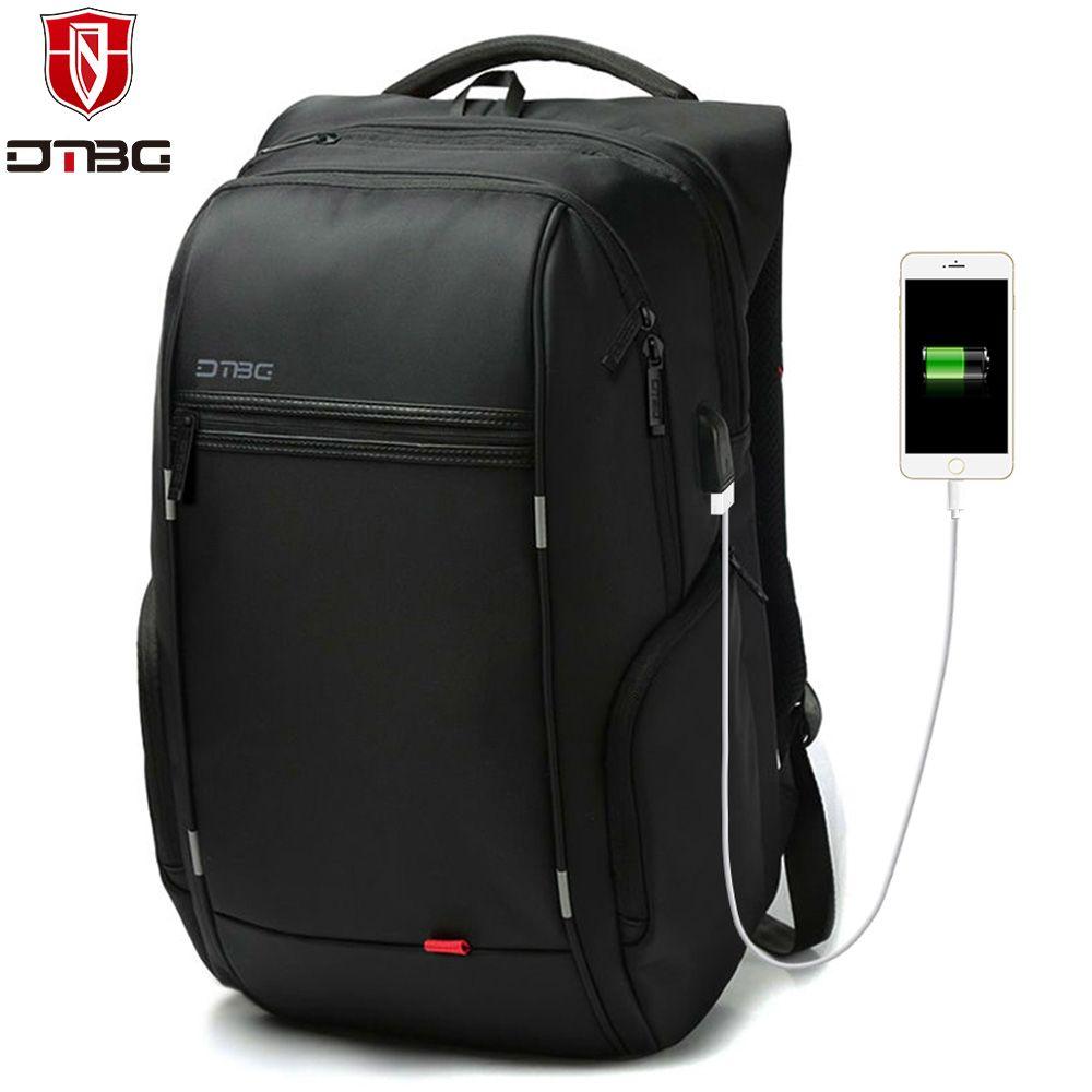 DTBG Backpack Men Women 15.6 17.3 School Backpacks with USB Charge Port Waterproof  Travel Bags Anti-theft Laptop Bag for Macbook  17.3 Laptop Bag DTBG ... c36d12235ddd0
