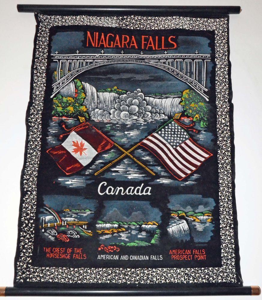 Vintage 1937 Niagara Falls Canada Souvenir Pennant