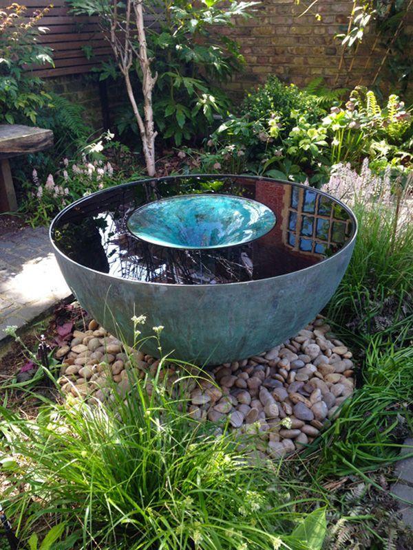 The stunning Volute water feature by Tills Innovations A vortex - gartenbrunnen modernes design