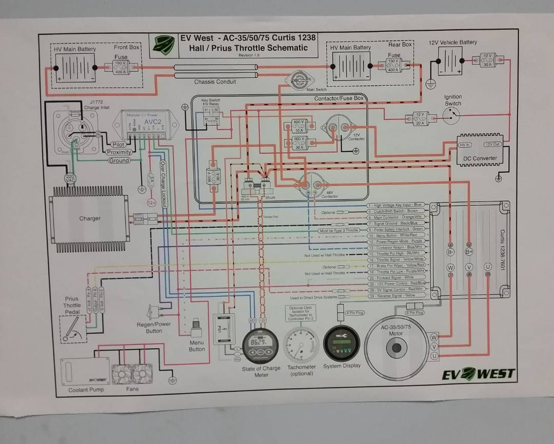 college electric car project we now have our ev west wiring diagram hanging on the wall hopefully next week we start cutting wires and connecting  [ 1080 x 866 Pixel ]