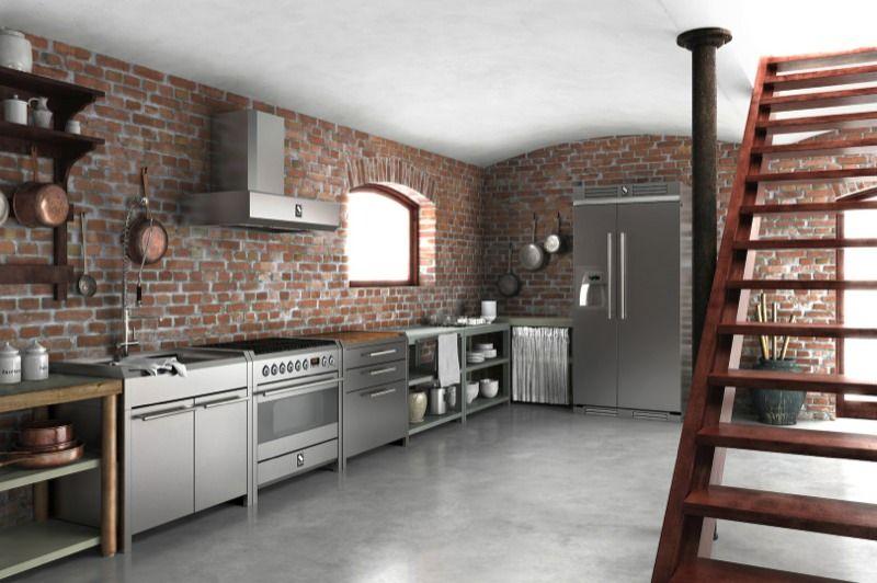 Cucine Steel | [Home] Live-in Garage | Pinterest | Gasherd, Küche ...