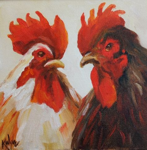 Chit Chat - sold, painting by artist Kay Wyne