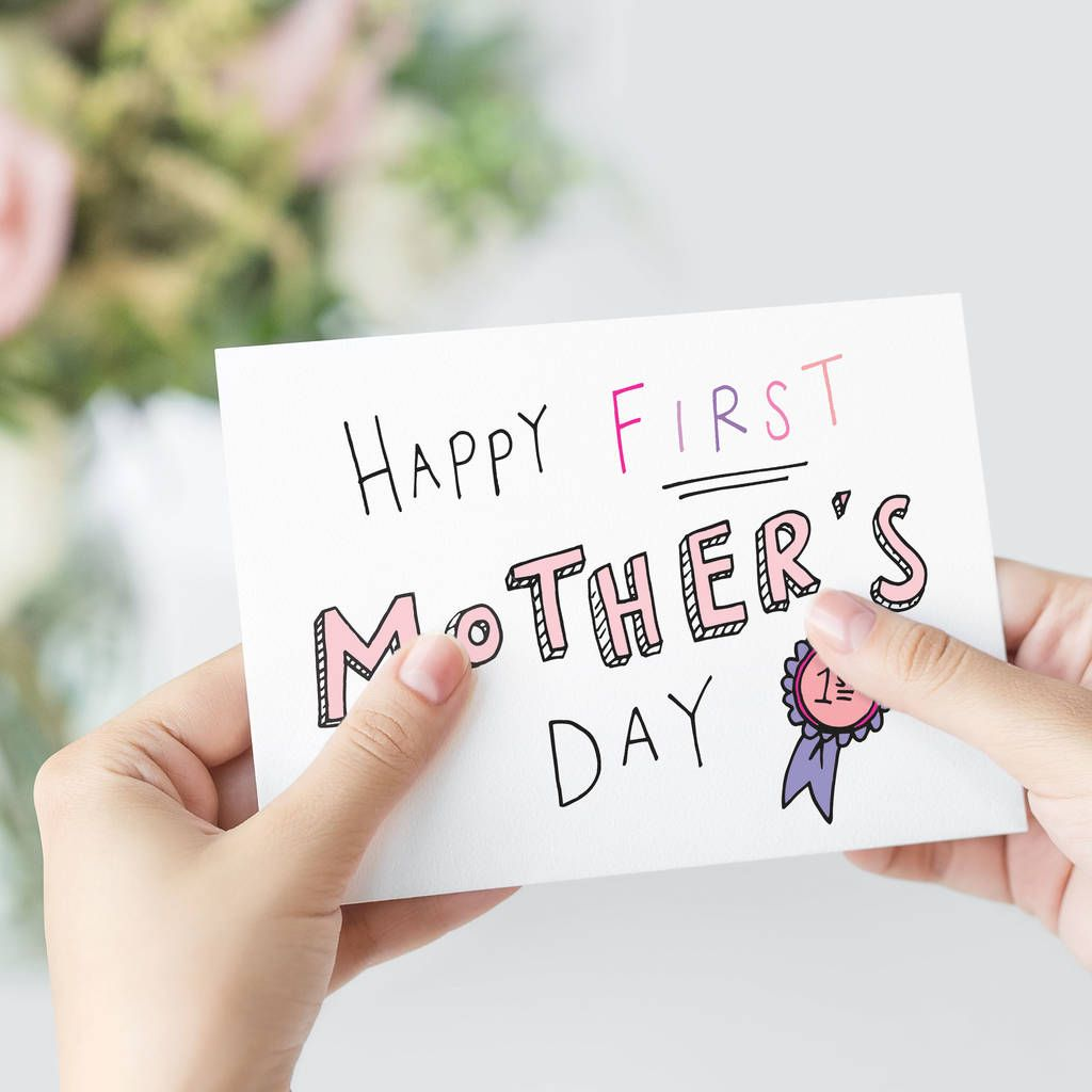Happy first mothers day card in 2020 hand lettering