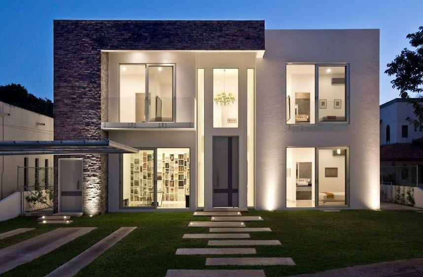 Fachadas de casas minimalistas casas amoblamientos for Modelos de casas minimalistas de dos plantas