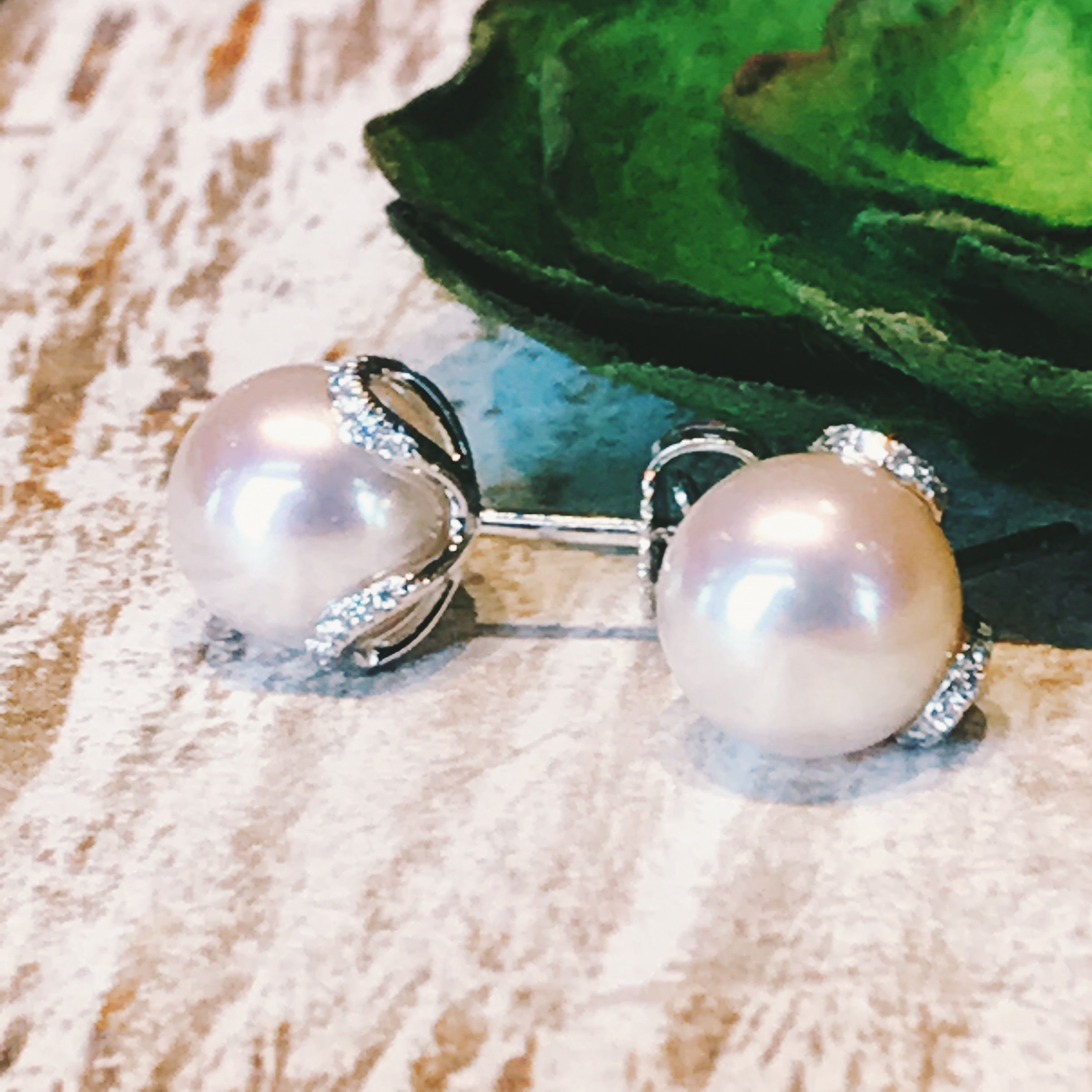 Perfect for your big day Mikimoto pearl and diamond earrings