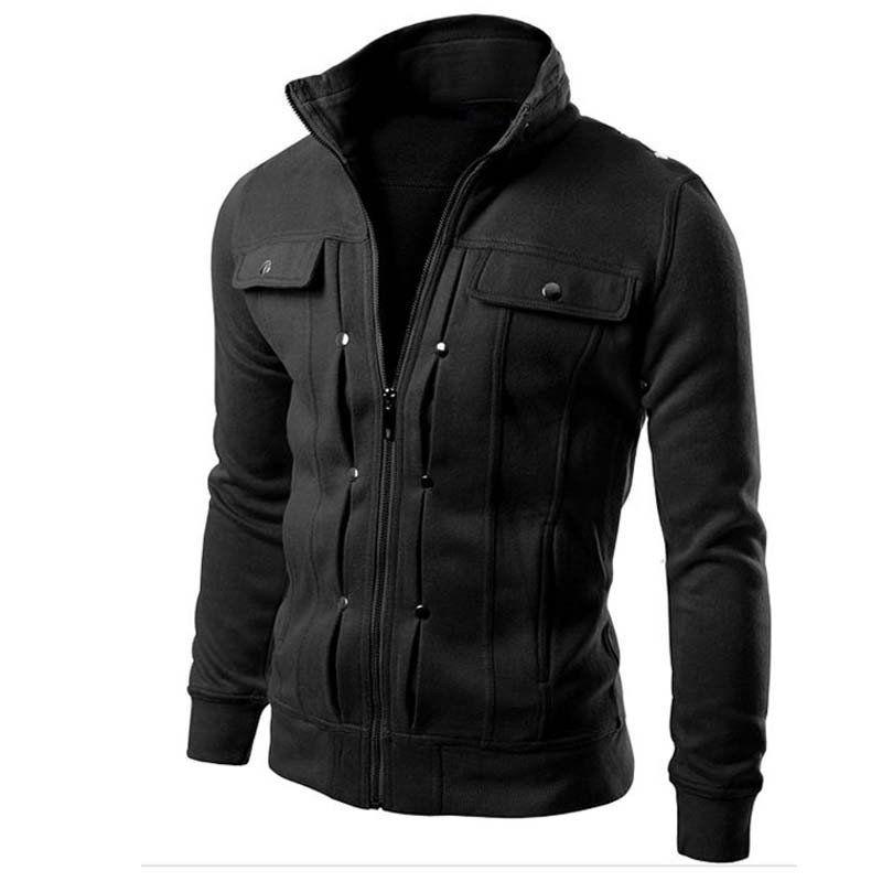 Brand Clothing Bomer Jacket Causal Men's Coat Zipper Tracksuit Jacket  Spring Autumn Mens jackets and coats