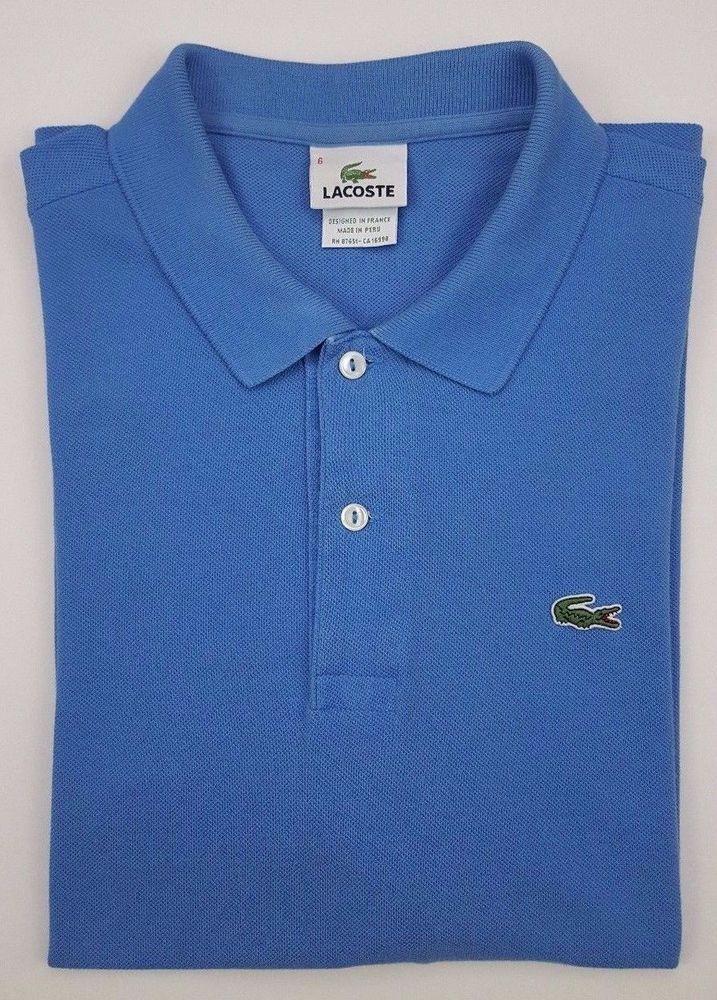 wholesale dealer f36a7 c17f7 Details about Lacoste Polo Shirt Short Sleeve Light Blue ...
