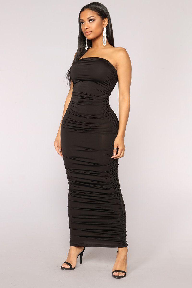 Osaka Ruched Dress Black (With images) Fashion nova