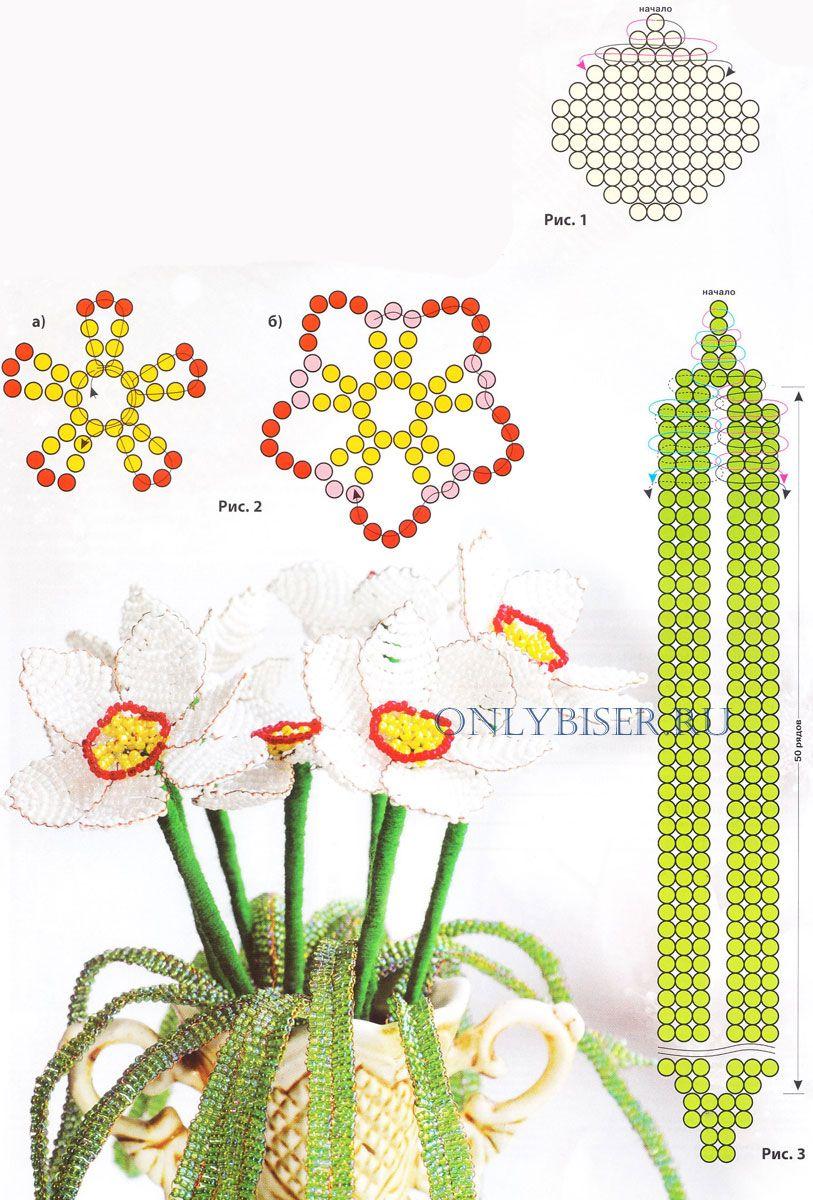 бисероплетение цветы гортензия схемы