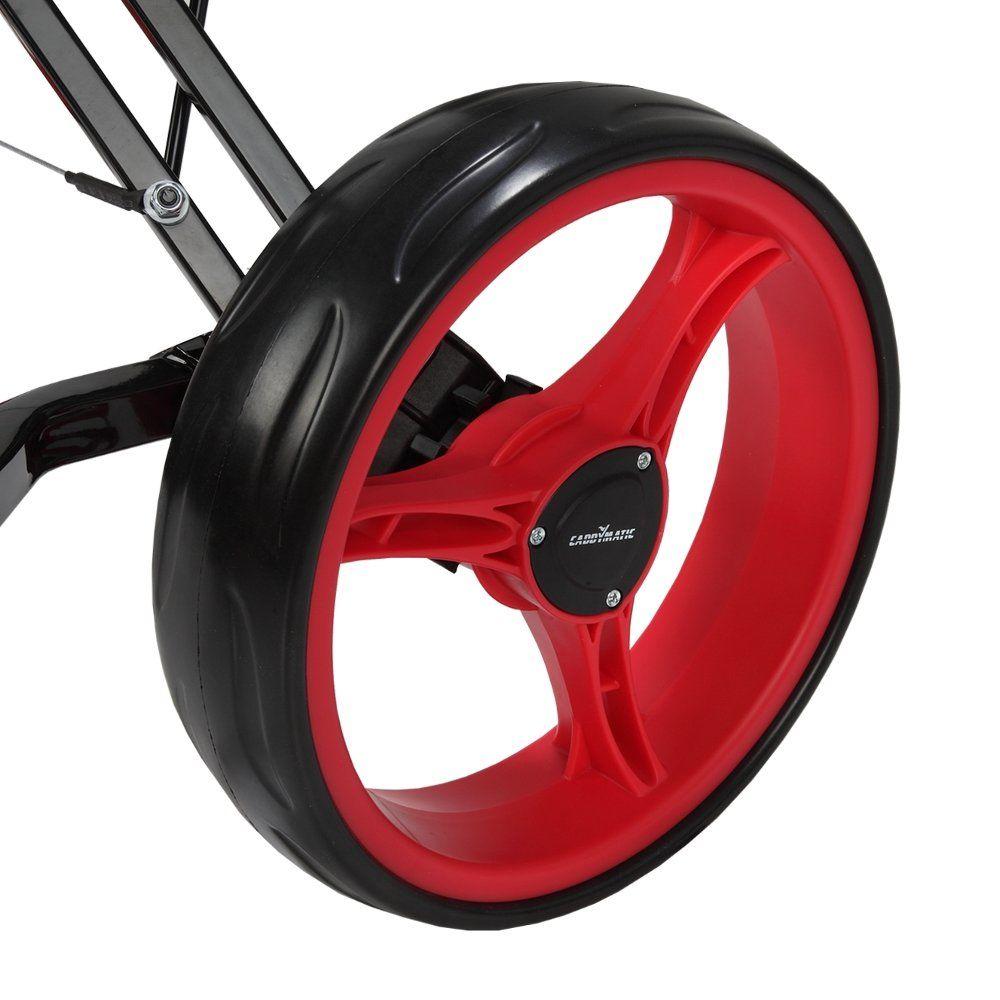 Caddymatic golf xtreme 3 wheel pushpull golf cart with