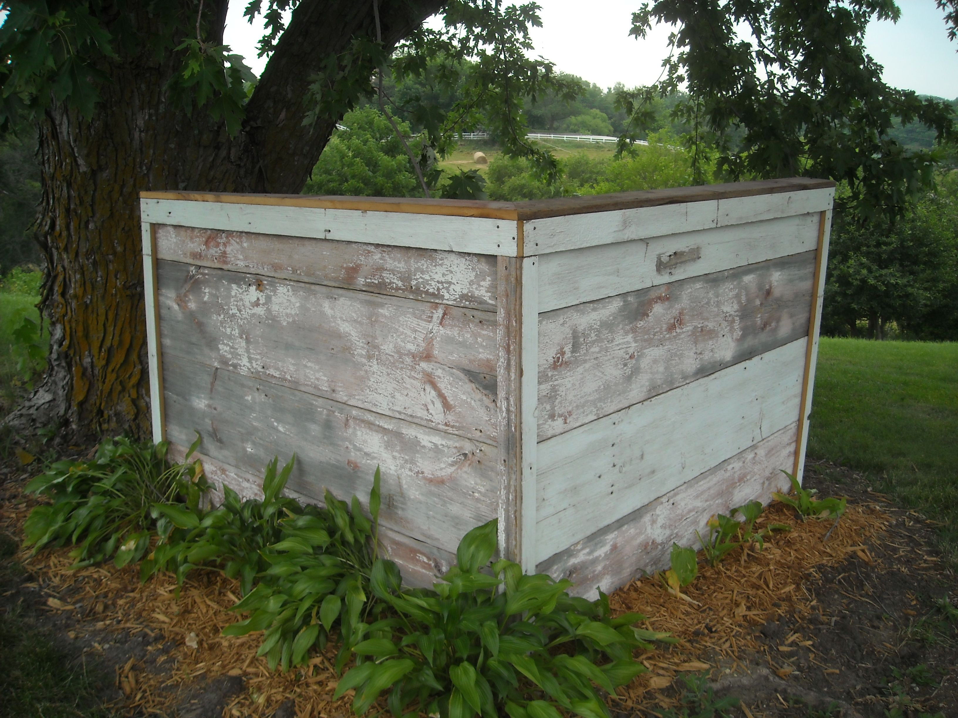 Weathered Boards made to hide unsightly items in your yard. Great ...
