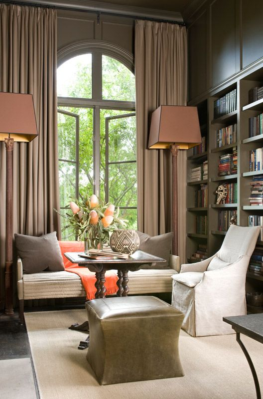 Every Available Wall Of His Personal Library Was Papered With A Lifelong Collection Of Books He Obviously Required A Nest Feather Home Interior House Interior