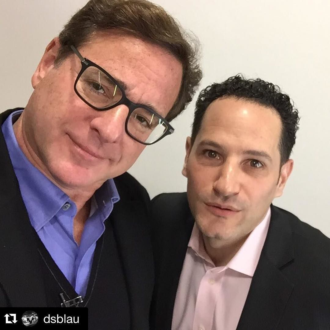 """#Repost via @dsblau: """"#BobSaget selfie. One of the best guys in the business. #handtogod #fullerhouse"""" by abcnewsradio"""
