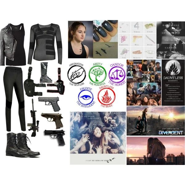 Tris - Divergent outfit by lm10123 on Polyvore featuring AllSaints, MuuBaa, Steve  Madden,
