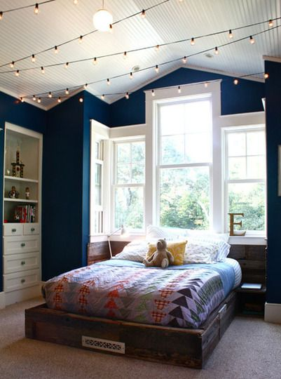 Of course, we've seen lots of uses for twinkle lights during the holidays, and even some great ideas for using them year round in your house. But we also love twinkle lights for kids' rooms, where you can use them to make the room a little more special, created a themed room, or even create a custom night light.