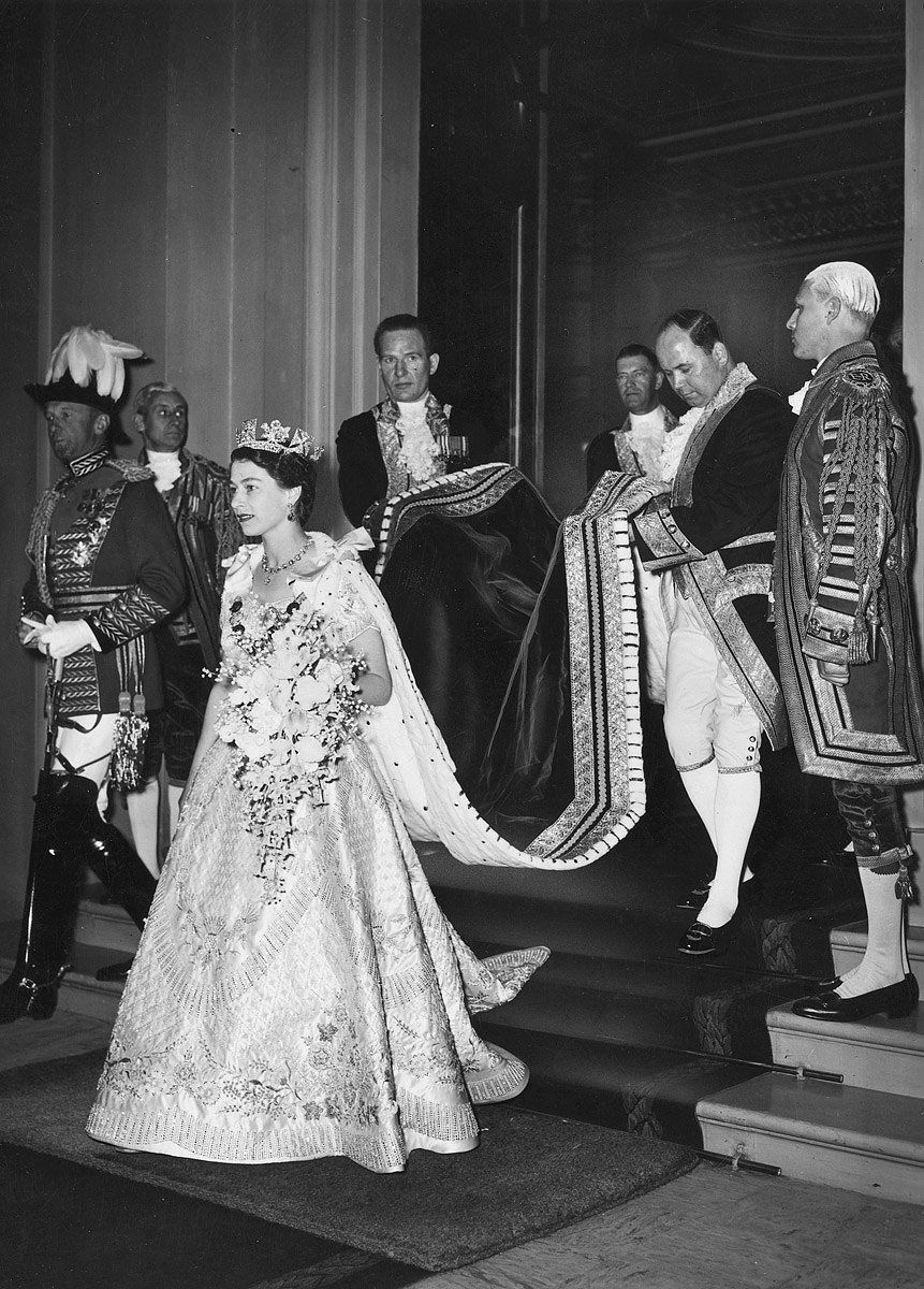 Queen Elizabeth II on her coronation day, 1953 Queen's