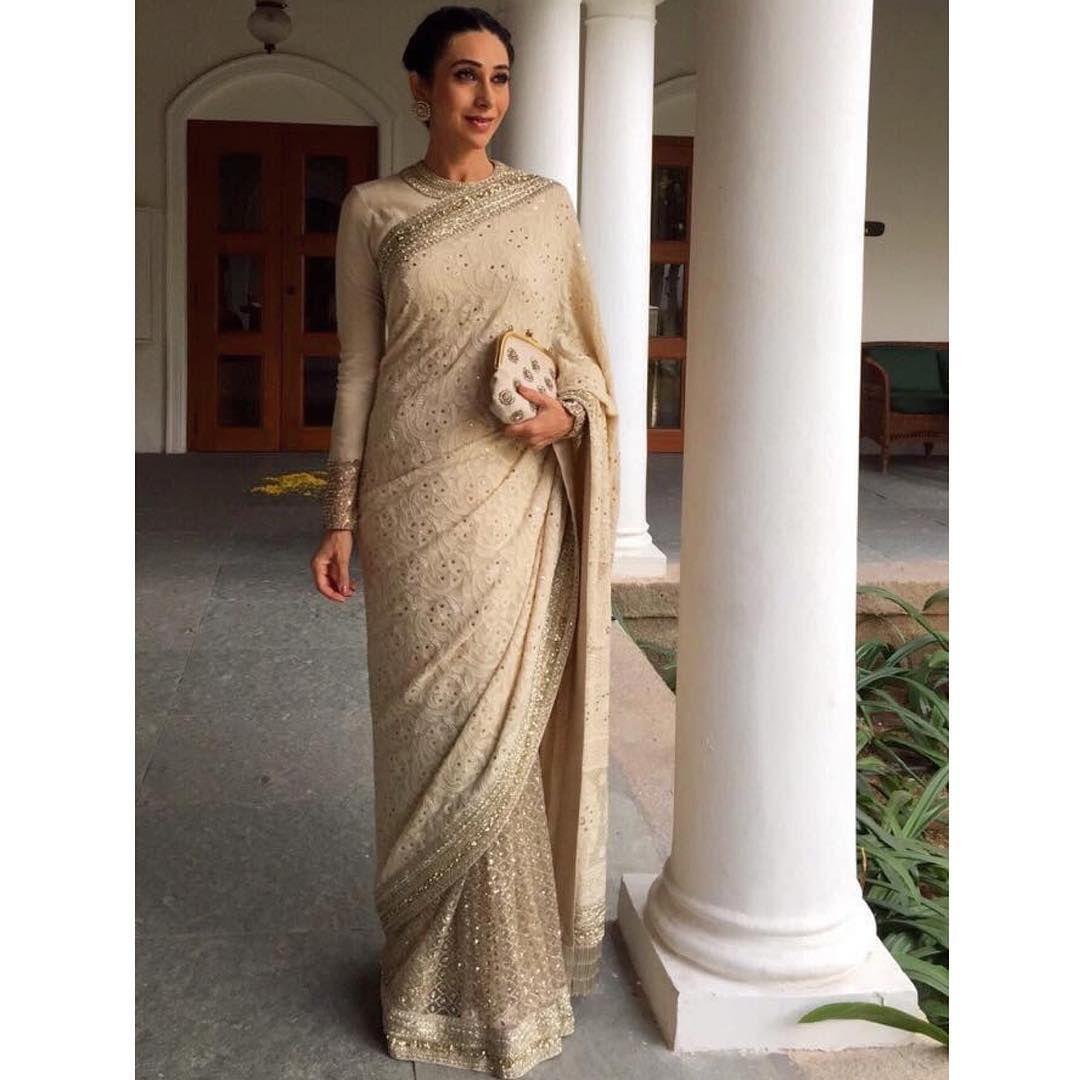 Yami Gautam Bollywood Designer CHIKAN Saree Wedding  Designer sabyasachi  Sari