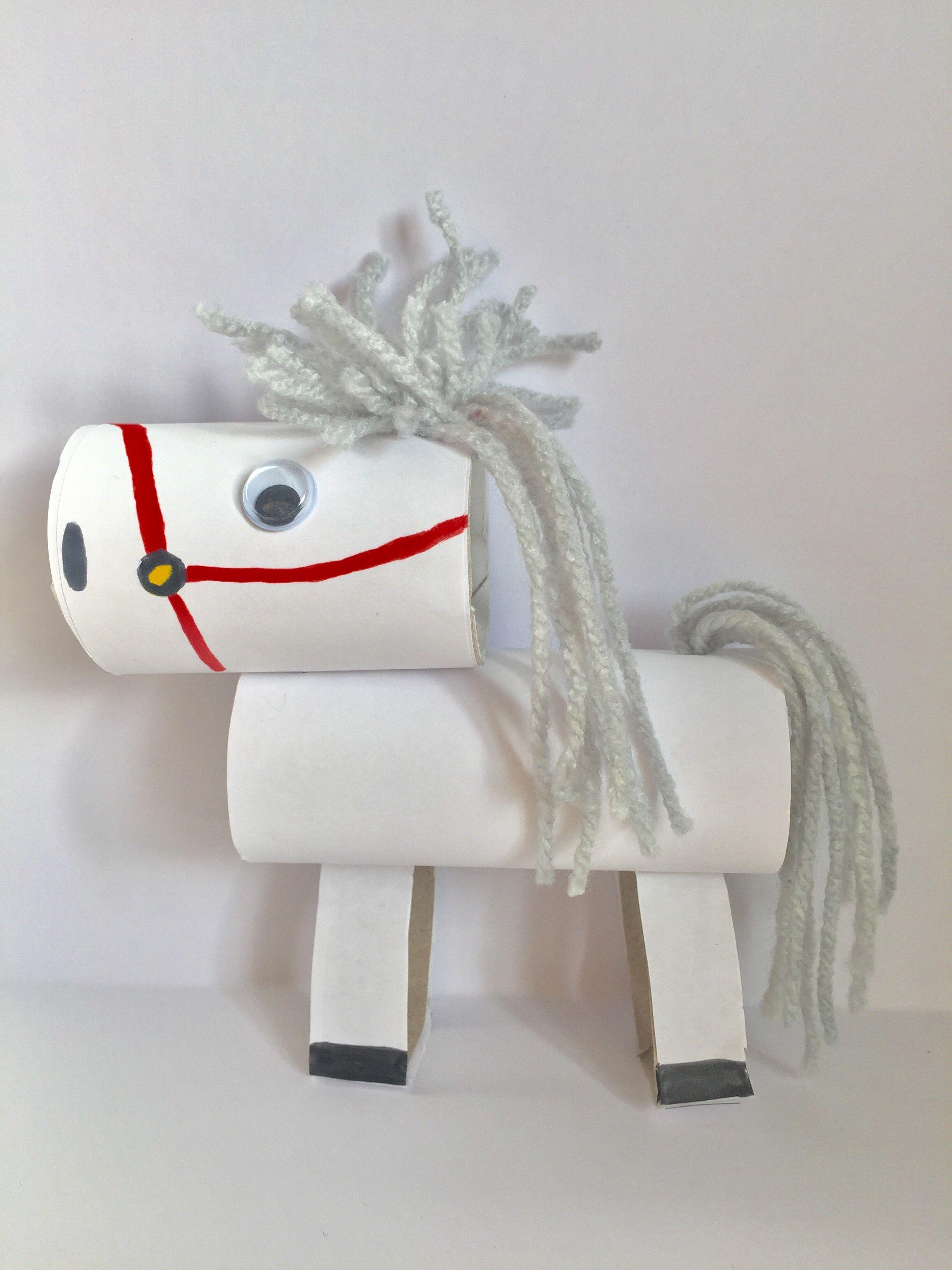Uitzonderlijk Echt van alles kun je knutselen met wc rollen. Zo ook dit paard #XQ45