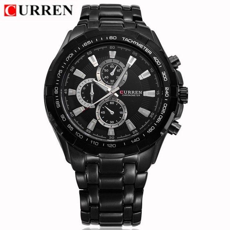 Černé pánské hodinky Curren kovový pásek 133b4d25ad6