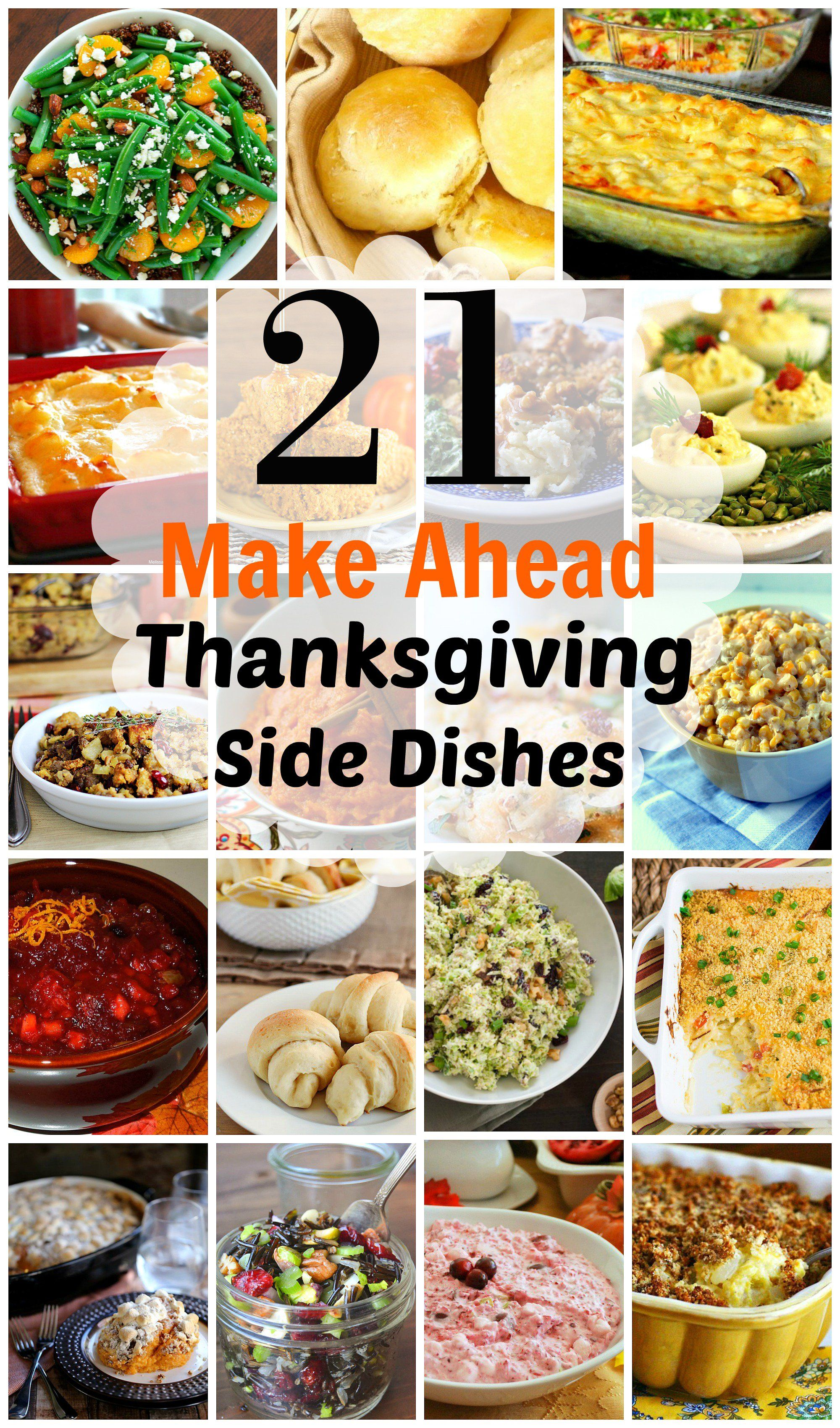 21 Spectacular Make-Ahead Thanksgiving Side Dishes #thanksgivingrecipessidedishes