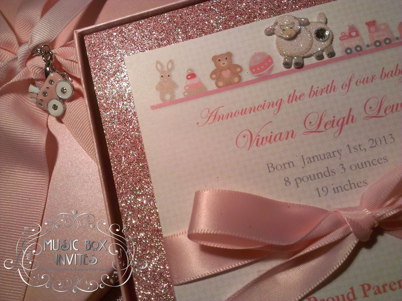 Musical Wedding or Party Invitation and RSVP Card in Baby Shower or ...
