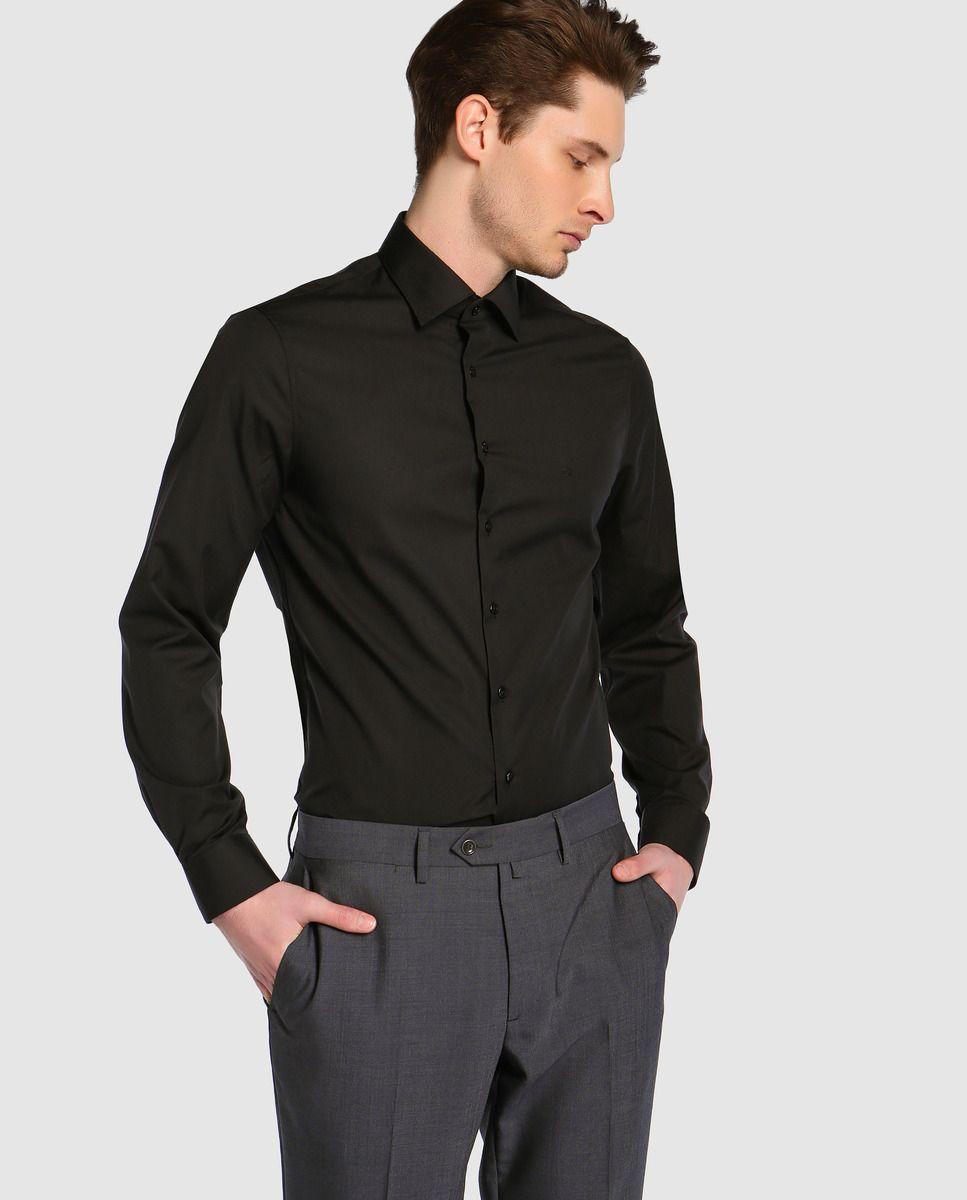 Hombre Lisa · Moda Negra Klein De Camisa El Calvin qzMSpVU