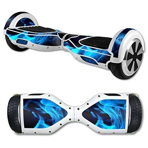 Blue Flame Hoverboard Skin Cover