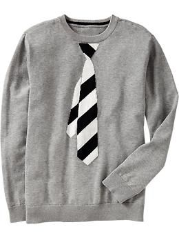 Boys Necktie Graphic Sweaters Old Navy Family My Boys