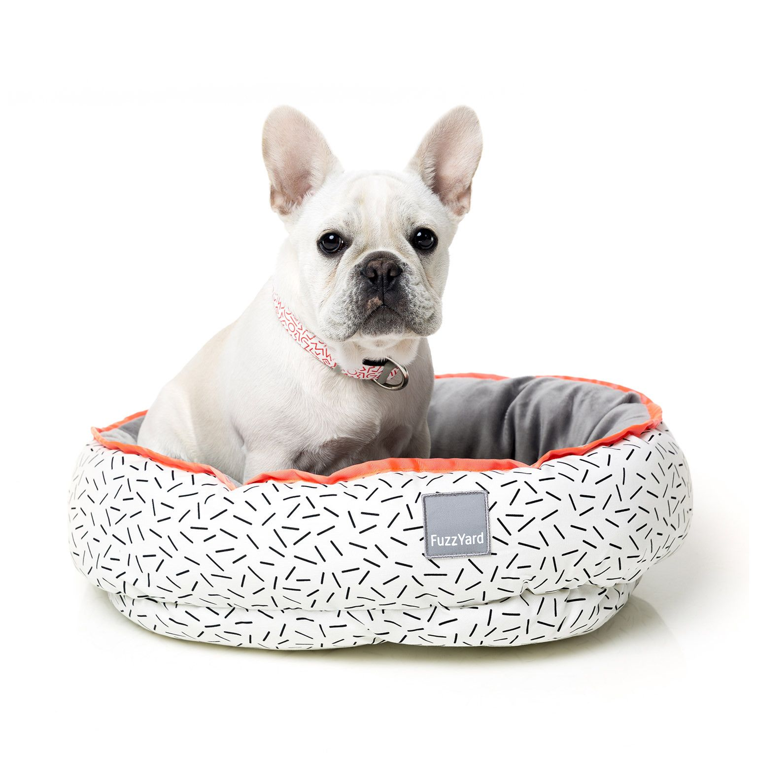 French Bulldog In The Fuzzyard Hustle Reversible Pet Bed French