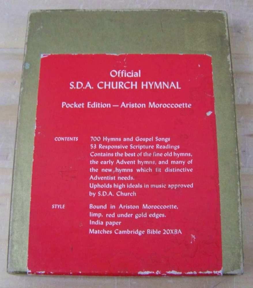 1941 vintage pocket edition adventist official sda church hymnal boxed