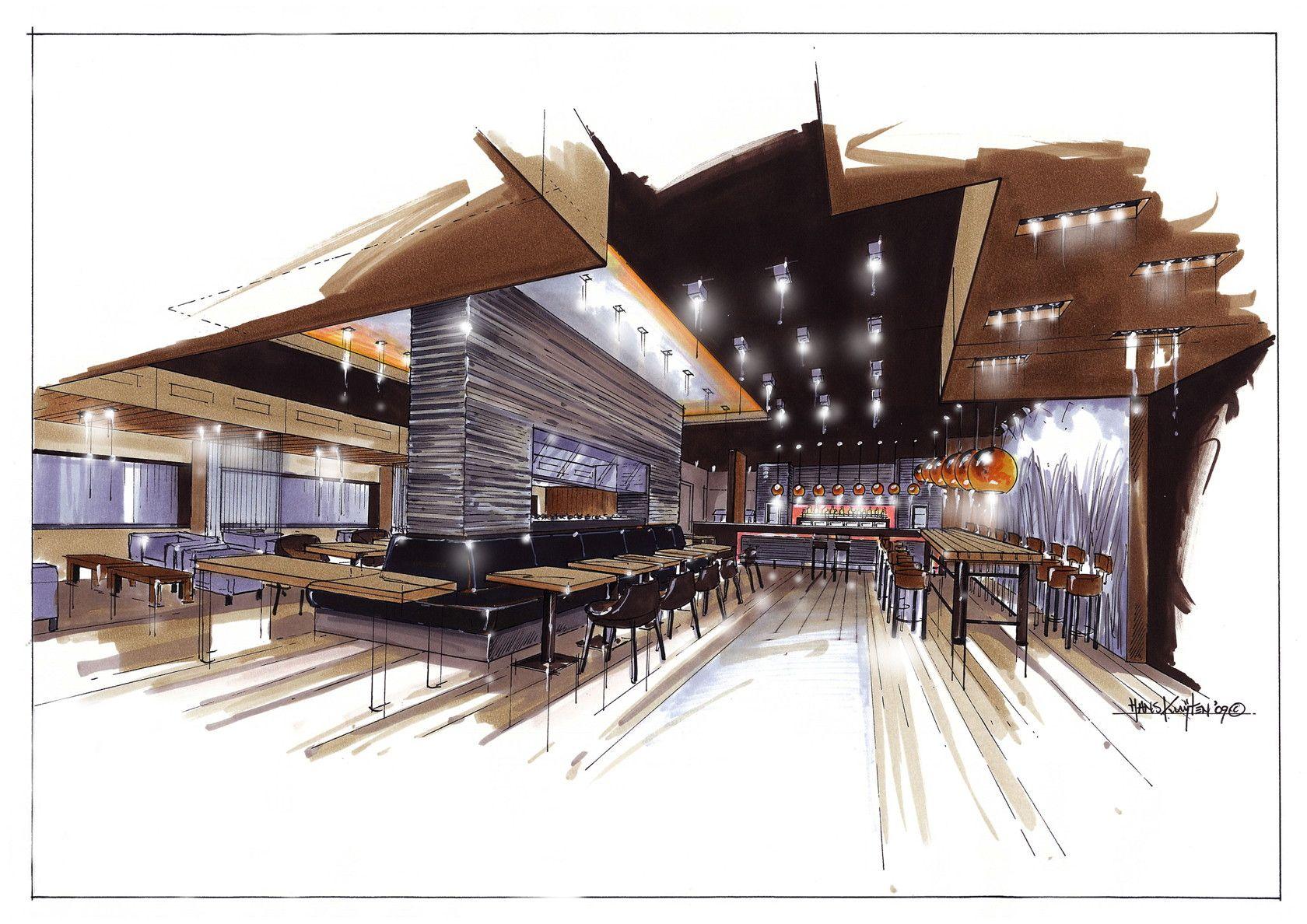 Hans kuijten projecten sketches architektur for Studium interior design
