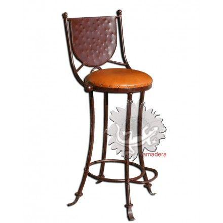 chaise haute, chaise de bar ou comptoir, mobilier mexicain ... - Chaises Hautes De Bar