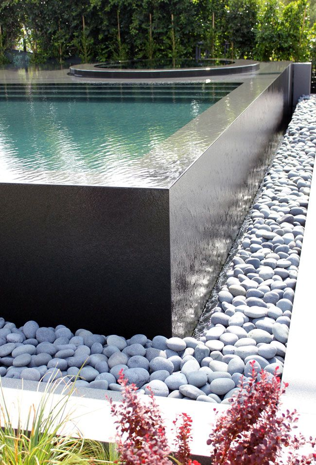 The 2014 Sunset Idea House Los Angeles Part 2 Cozy Stylish Chic Pool Landscape Design Swimming Pools Backyard Pool Waterfall
