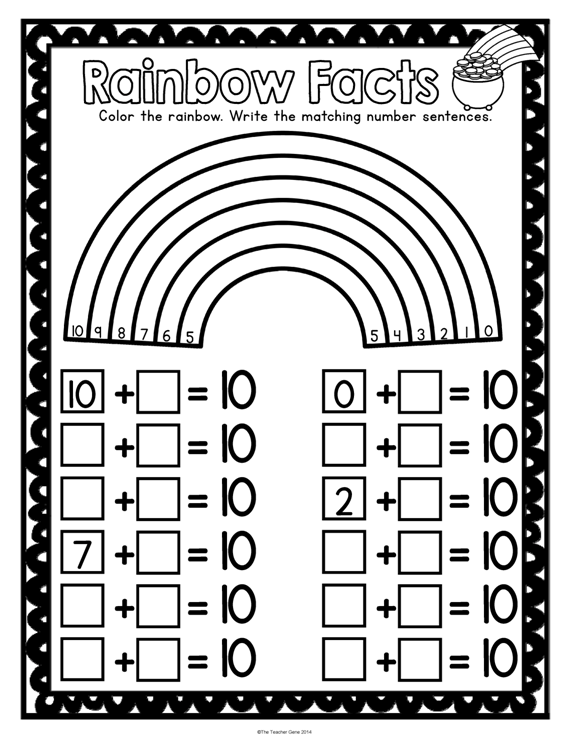 St Patrick\'s Day Kindergarten Math Activities Pack (Print and Go ...
