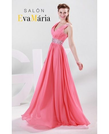 fb25c78cc239 Večerné šaty Elsie ružové